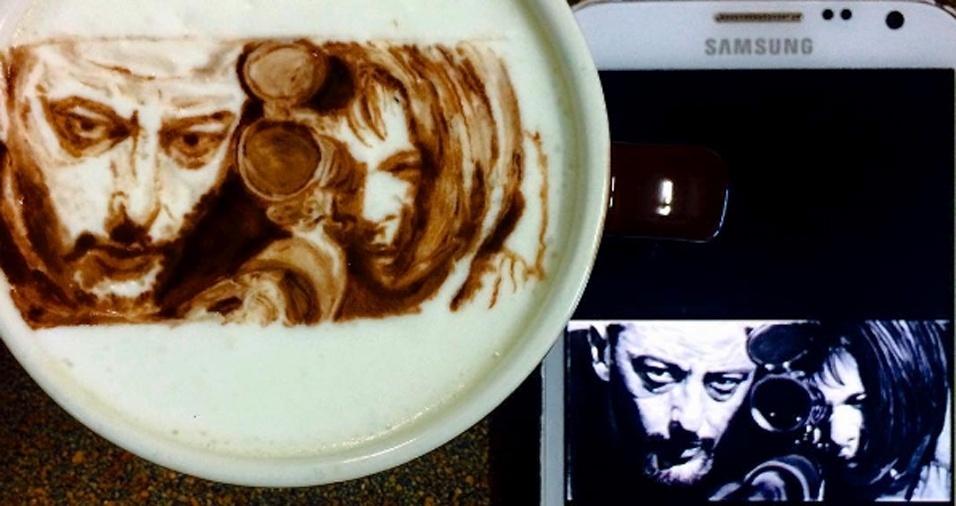 """56. Os fãs do filme """"O Profissional"""" vão se apaixonar por esse café"""