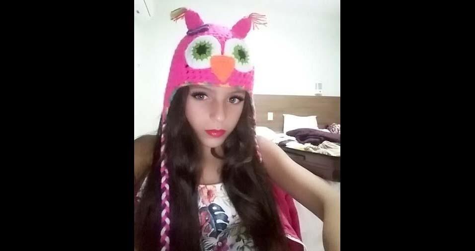 Roberta enviou foto da filha Stefany Gabrielle, de dez anos