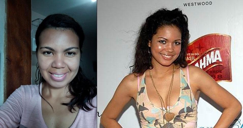 Jaciara Farias de Albuquerque, de São Paulo (SP), se acha parecida com a atriz Jennifer Nicole Freemam
