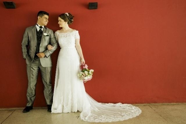 Ariádine Fernanda Churkin S. da Silva e Roger Fernando Reis Souza da Silva se casaram no dia 10 de dezembro de 2016, em Curitiba (PR)