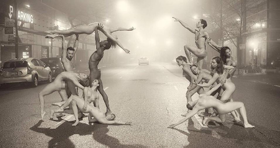 """28. Em """"Dancers After Dark"""", Jordan fotografou diversos dançarinos em muitos lugares diferentes"""