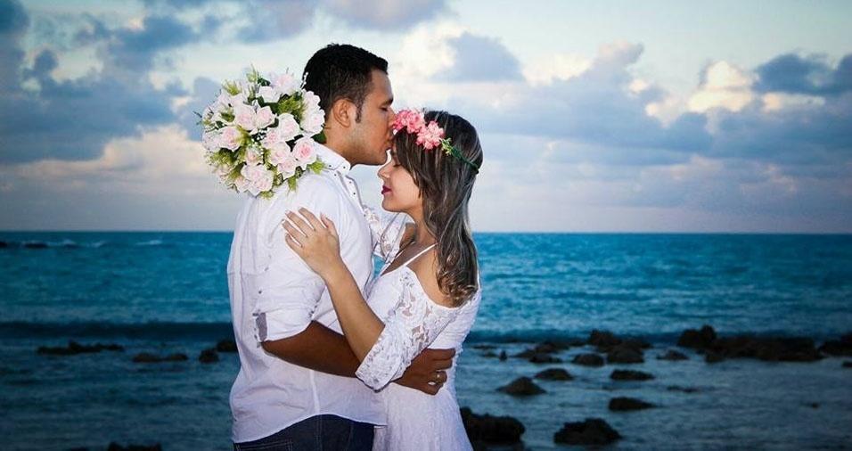 Luan Rafael e Rayane Cavalcante, de Solânea (PB), estão casados desde 26 de março de 2016