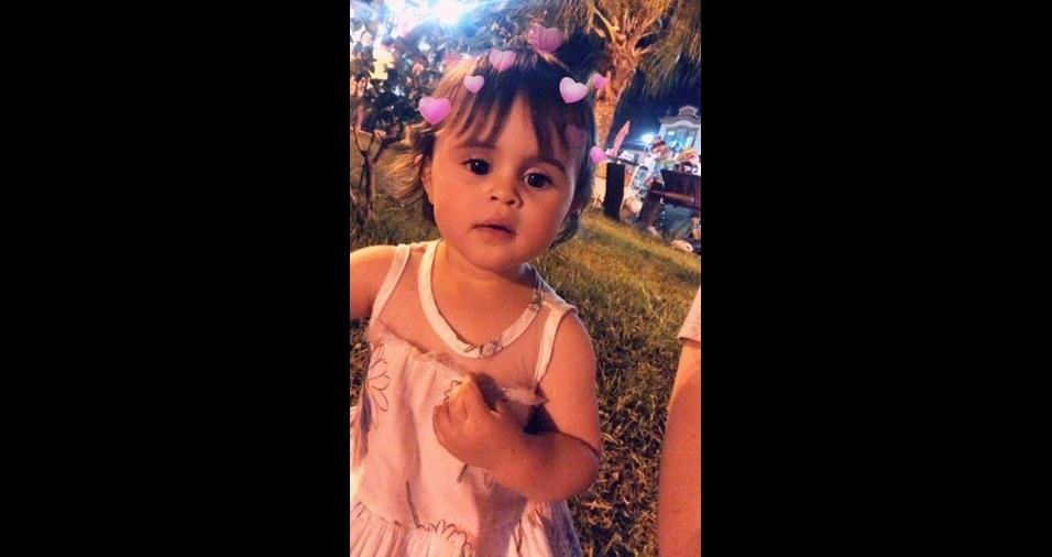Rodrigo enviou foto da filha Isa, de São João Del Rei (MG)