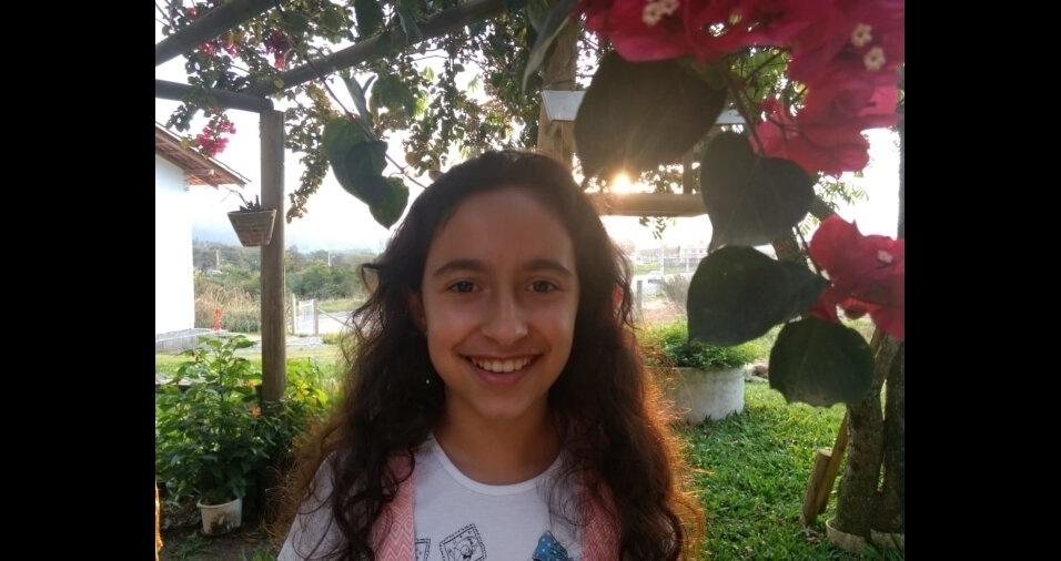 Esta é a Júlia Garcia, filha do Alexandre Sant'Anna, de Blumenau (SC)