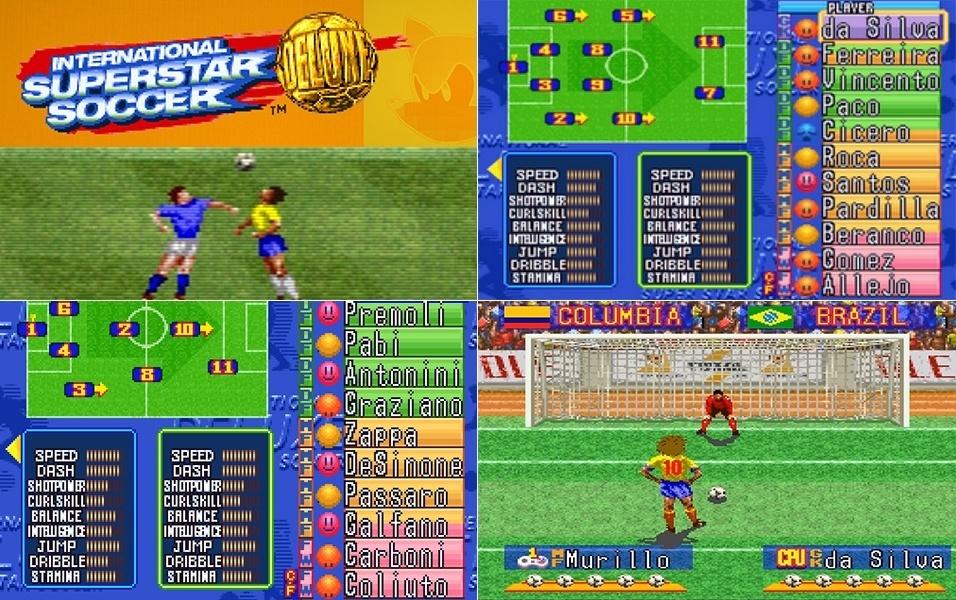 """Nos anos 90, em consoles como Super Nintendo e Mega Drive, um dos jogos preferidos era o """"International Super Star Soccer Deluxe"""".  Por não pagar os direitos de usar os nomes dos jogadores, o """"INSS"""" tinha jogadores fictícios, mas que representavam os jogadores da vida real, inclusive copiando suas características (é só ver a cabeleira do colombiano """"Murilo"""" para saber que ele na verdade era o Valderrama). Brasil e Itália tinham os melhores jogadores do game: eram eles, Allejo (Romário), pela seleção brasileira, e Galfano (Roberto Baggio), pela """"Azzurra"""""""