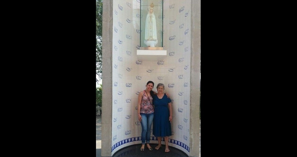 Rosangela com a mamãe Reinaldina, de São Paulo (SP)