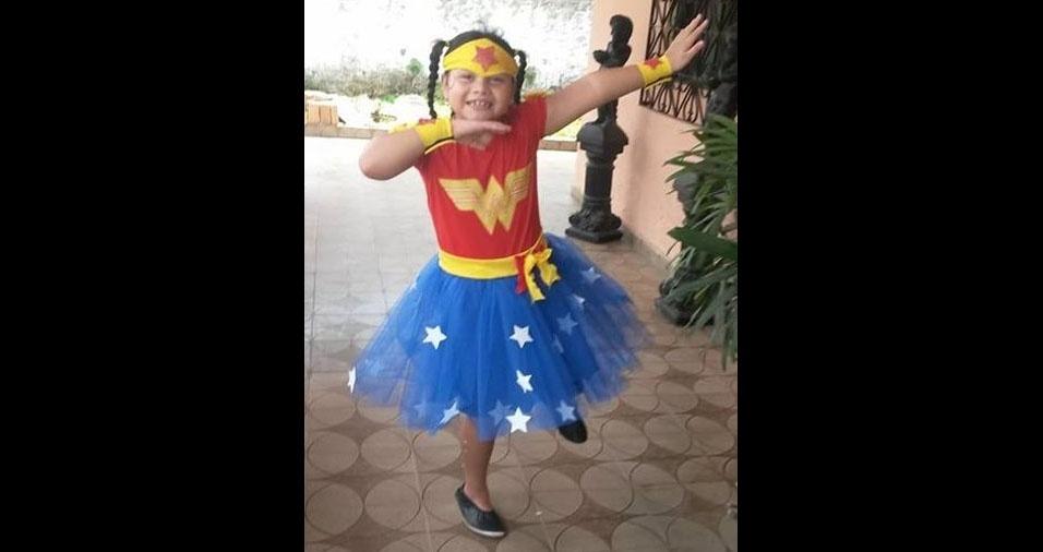 A mãe Cimara enviou foto da filha maravilha Isabela