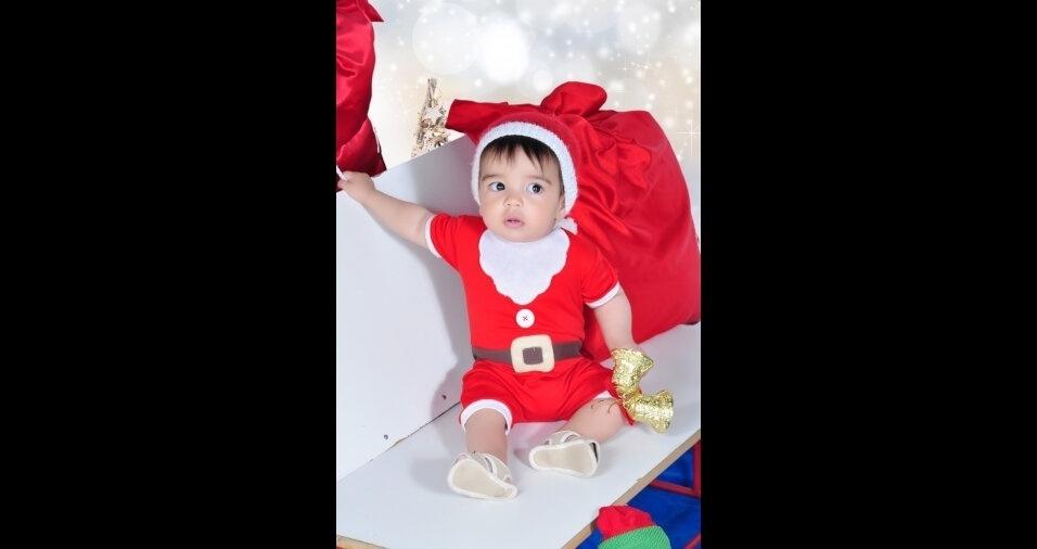 Fernanda, de Barbacena (MG), enviou foto do filho Marco Tullio para o Especial de Natal do BOL