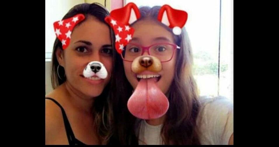 Fernanda Arcangelo com a filha Gabrielle, de Cruzeiro (SP)
