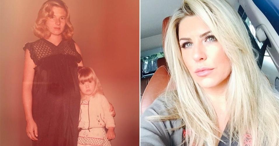 """16.mai.2017 - A ex-BBB e apresentadora Iris Stefanelli usou o Instagram para relembrar uma foto do baú ao lado da mãe. """"Para a mãe mais linda do mundo que eu usava as maquiagens escondida e usava os saltos sem conseguir andar direito, desejo muita saúde e todo amor do mundo"""", escreveu. Os fãs elogiaram a beleza da mãe de Iris. """"Ela parece a Vera Fischer"""", """"As duas são lindas"""", comentaram"""