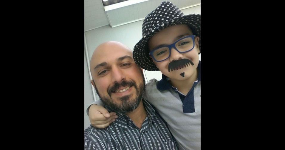 Vanderlei com o filho Miguel, de Carazinho (RS)