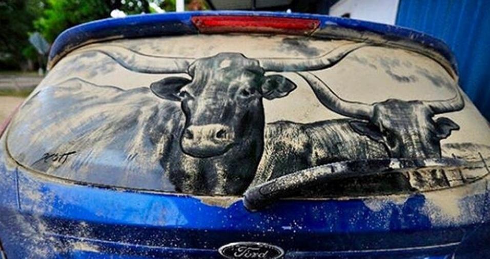 11. Já pensou em ter uma obra tão realista assim no seu carro?