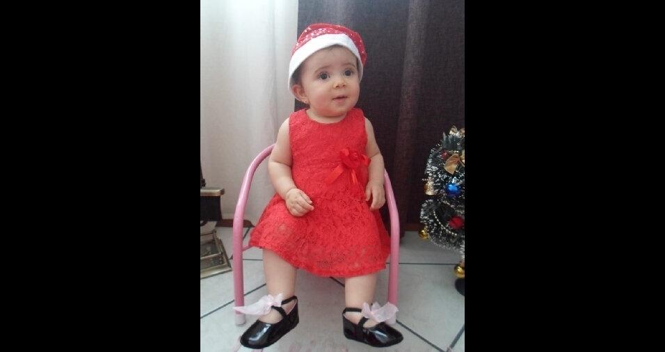Tatiane Canez, que mora em Blumenau (SC), enviou foto da filha Valentina