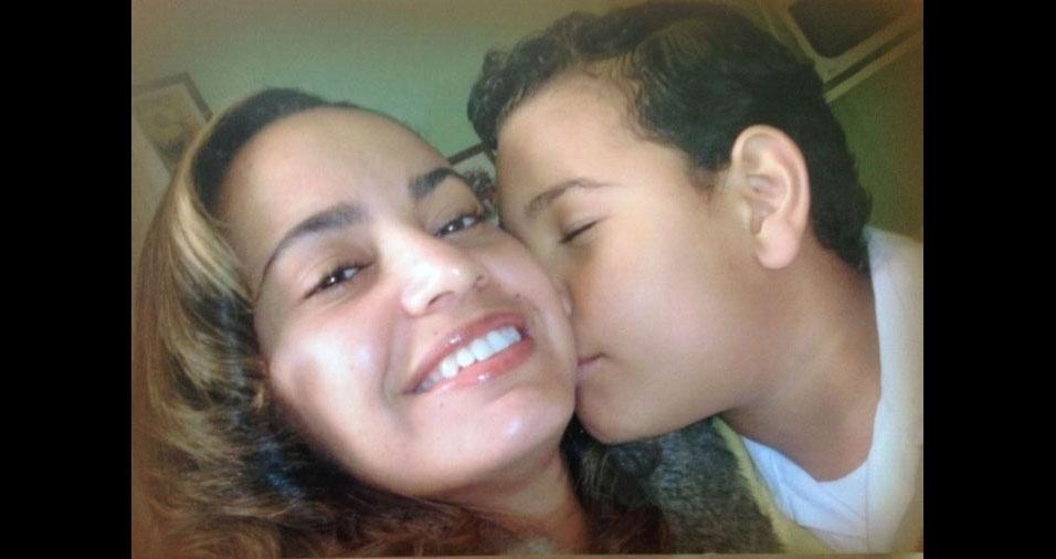 Marta com seu filho Lucas, de São Paulo (SP)