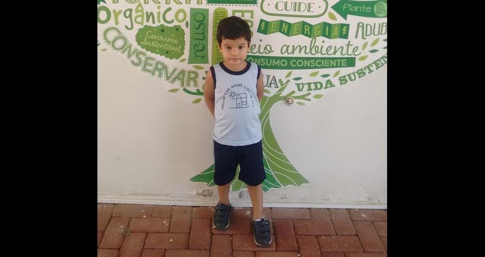 Alessandra, de Itu (SP), enviou foto do filho Pedro, de quatro anos