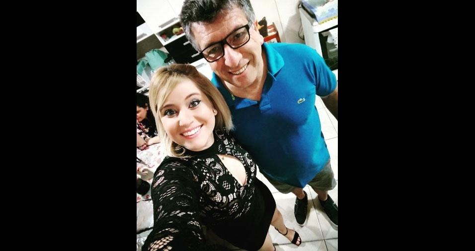 Ana Paula com o papai Luis