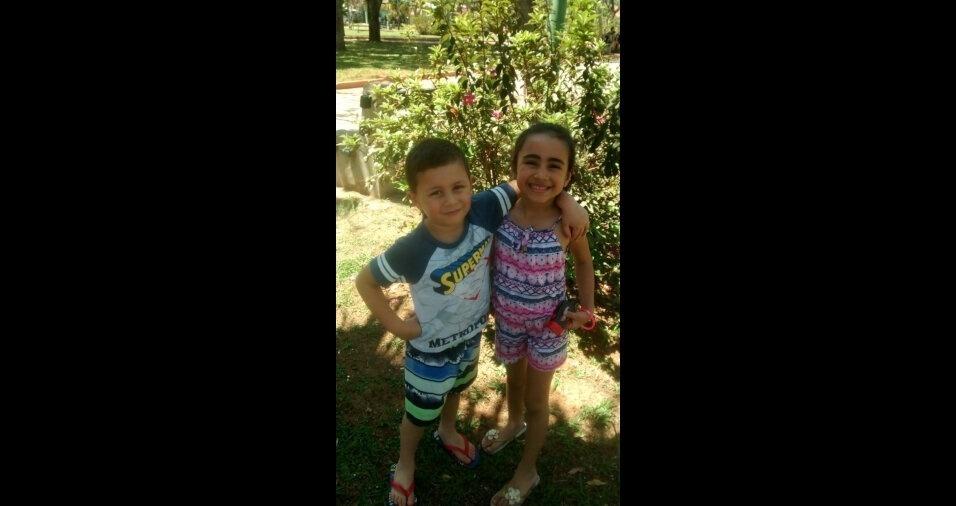 A Julia, de cinco anos, e o Pedro, de quatro, são filhos da Maria de Sales Lima, de São José dos Campos (SP)