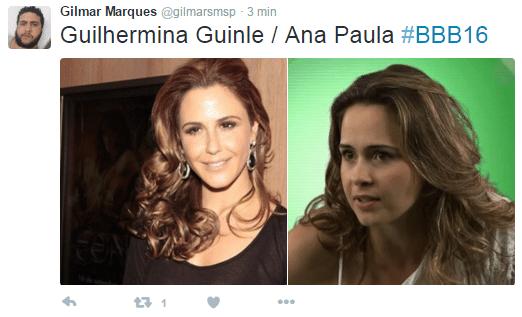 19.jan.2016 - Uau! No juízo de valor de um internauta, a jornalista mineira Ana Paula se parece com a bela atriz Guilhermina Guinle. Quem mais concorda com o rapaz?