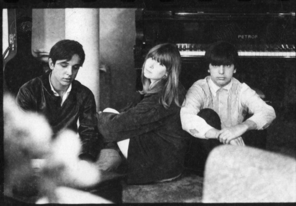 "Nov.1966 - Os cantores e músicos Arnaldo Baptista, Rita Lee e Sérgio Dias, do grupo ""Os Mutantes"""