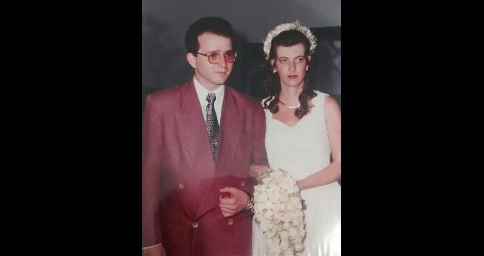 Marcia Apgolo relembra o dia de seu casamento, em 16 de novembro de 1996