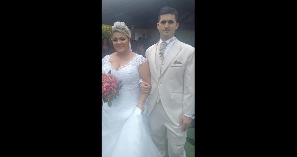 Eduardo Gonçalves da Silva e Ritiele Costa Barbosa, de São Paulo (SP), se casaram em 11 de dezembro de 2016