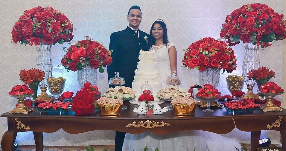Riniquer e Talita se casaram no dia 9 de setembro de 2009, em Campinas (SP)