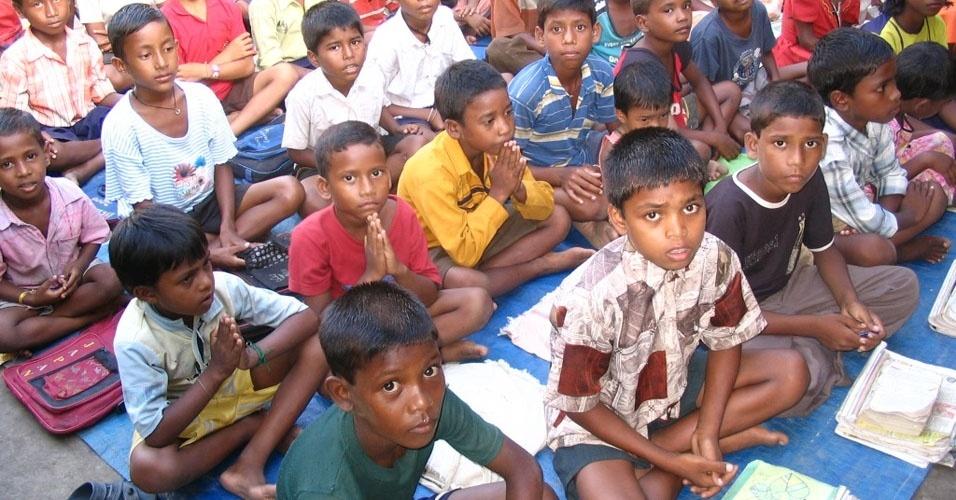 14. 61% das crianças em idade escolar na Índia têm germes causadores de doenças nas mãos