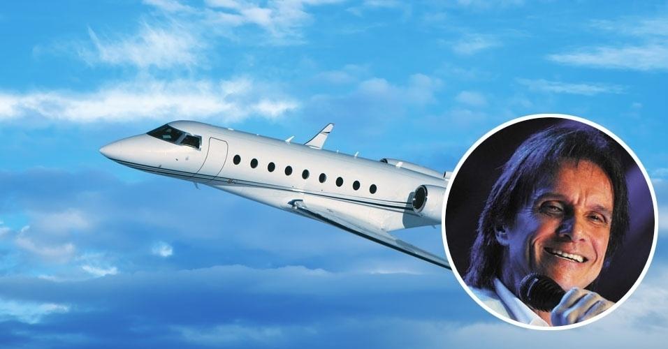 11. Roberto Carlos viaja como um rei num Gulfstream G280, jato comercial que pode levar até 10 passageiros em assentos executivos. Tem alcance de 6,7 mil quilômetros e custa cerca de US$ 24 milhões