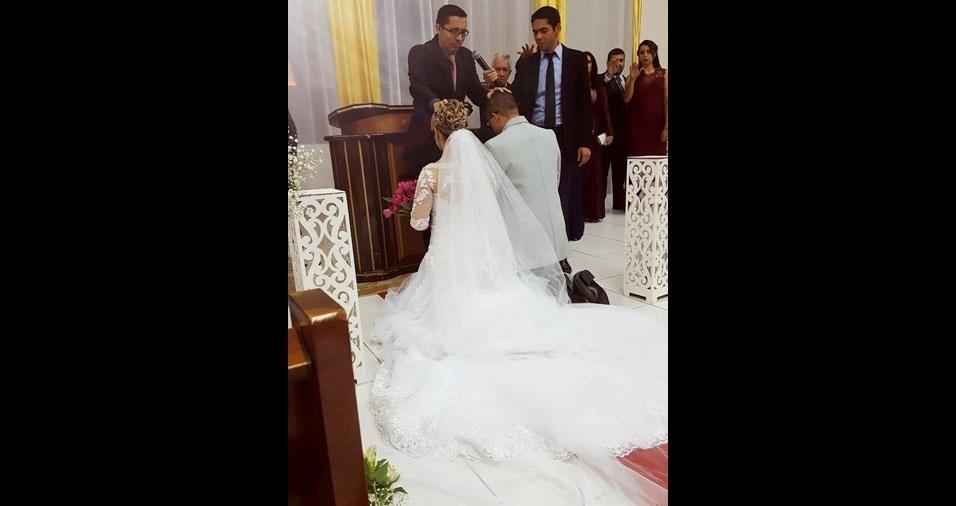 Cibele Crepaldi e Jefferson Rodrigues casaram-se em 30 de julho de 2016, em São Paulo (SP)