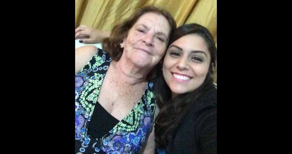 Thais Sarria, de Santa Catarina, com a avó Terezinha Sarria, de São Paulo