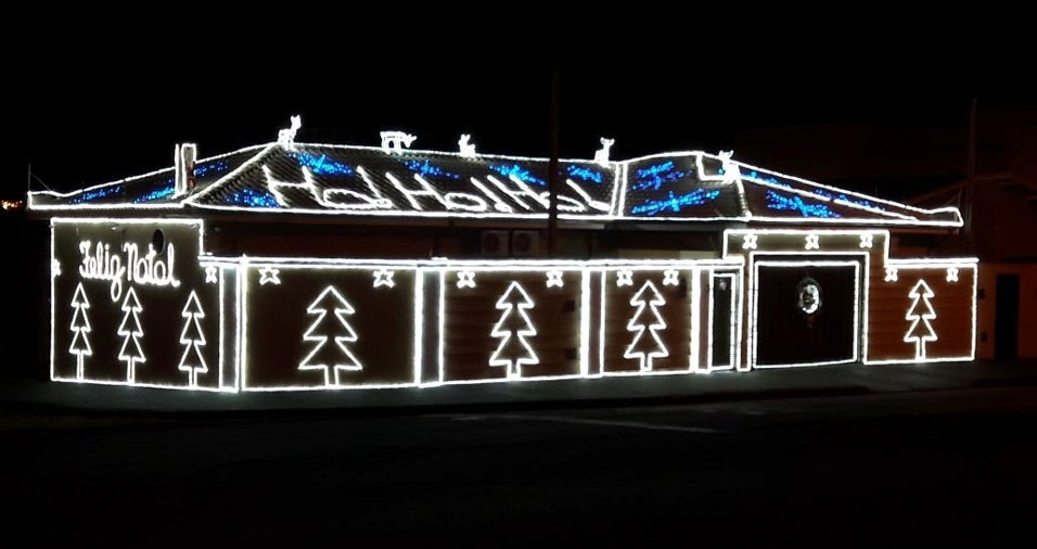 A casa da Crislaine no clima do Natal, em Orlândia (SP)
