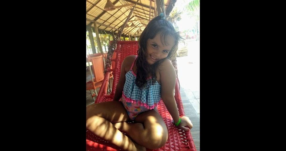 Sophia, seis anos, é filha da Laura Torres Borges Leite da Costa, do Rio de Janeiro (RJ)