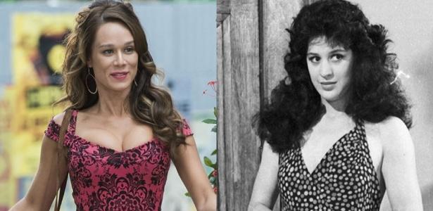 Tancinha nas duas versões: de Mariana Ximenes e Claudia Raia - Divulgação/Rede Globo