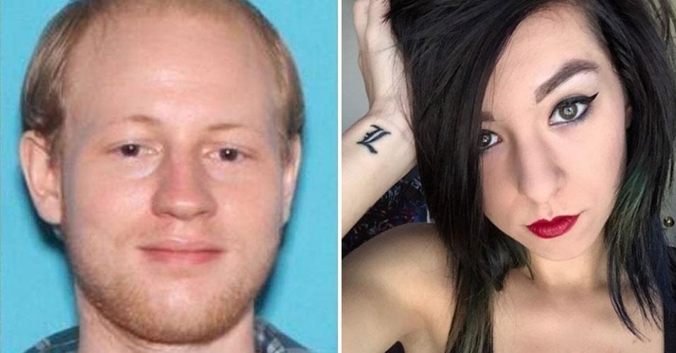 """11.jun.2016 - A polícia de Orlando, nos Estados Unidos, divulgou identidade e foto do rapaz que matou a cantora Christina Grimmie (à dir.). Kevin James Loibl (à esq.), de 27 anos, atirou na ex-participante do """"The Voice"""" enquanto ela distribuía autógrafos após um show na cidade americana. Grimmie não resistiu aos ferimentos e morreu aos 22 anos. Segundo os investigadores, o homem que fez os disparos não era de Orlando, tinha 27 anos e estava armado com dois revólveres e uma faca de caça. Mais outras duas pessoas foram atingidas por seus disparos, mas sobreviveram. Os policiais estão a procura do telefone do suspeito e de seu computador para entender o que o levou a cometer o crime"""