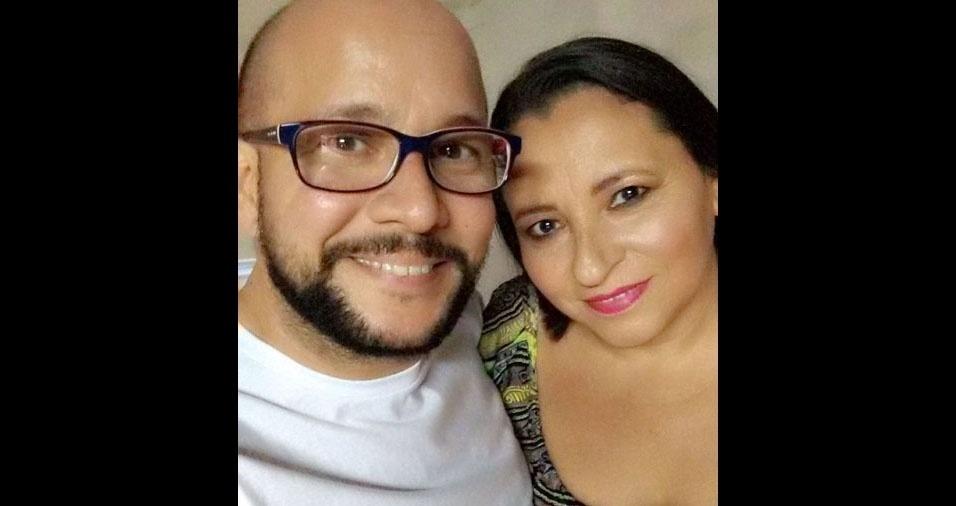 Rogério Nunes com a mãe Cleonice. Eles são de Americana (SP)