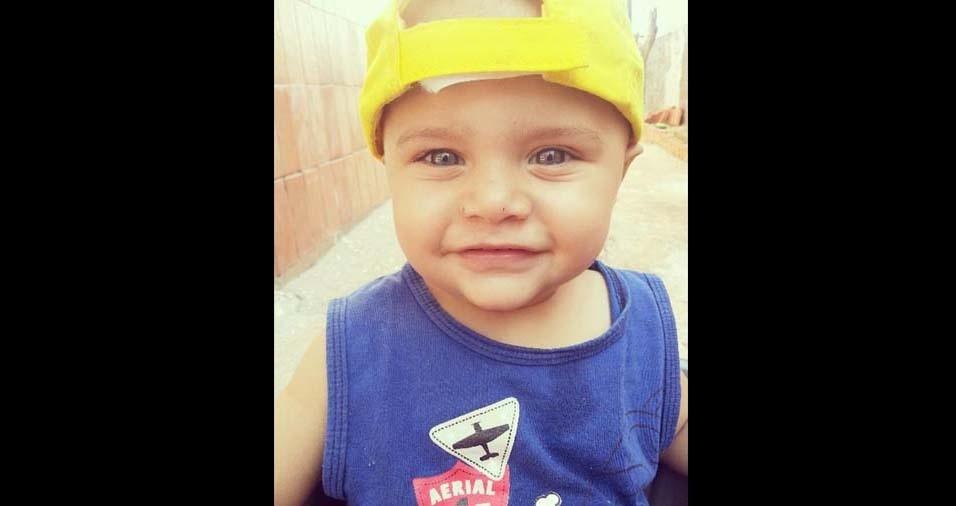"""Rafael e Franciele enviaram foto da """"criança mais linda"""", o Davi, de um ano e oito   meses, de Dois Córregos (SP)"""