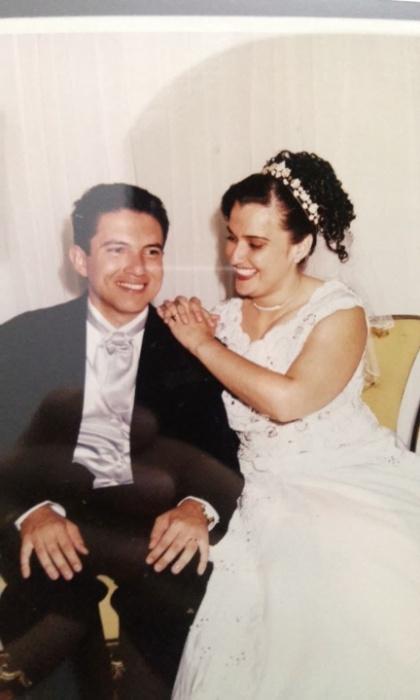 Rubens Barbosa Júnior e Carla Cristina Martins Barbosa se casaram no dia 10 de maio de 2003, em Londrina (PR)
