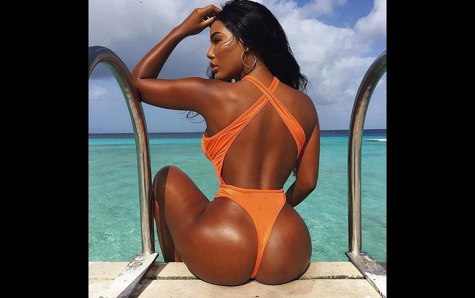 A beldade tem 24 anos e é natural de Curaçao