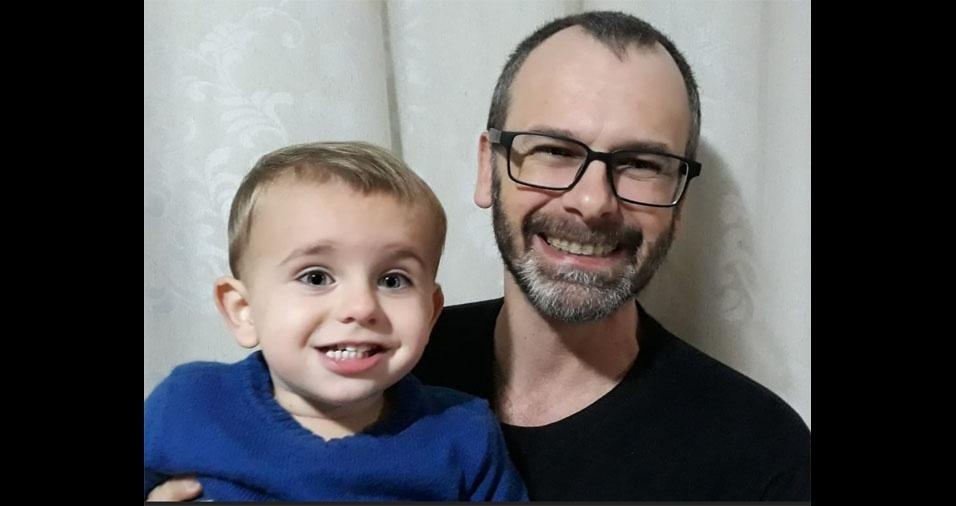 Claudemir Lago é o papai do Miguel, de Florianopolis (SC)