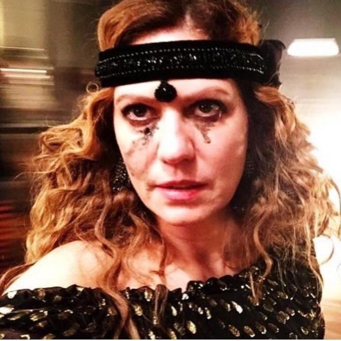 """30.ago.2016 - """"Deu saudade! Ligações Perigosas... Isabel #Liaisonsdangereuses #ligacoesperigosas #choderlosdelaclos #MarquesadeMerteuil #tvglobo #minissérie"""", postou a atriz Patrícia Pillar em sua rede social"""