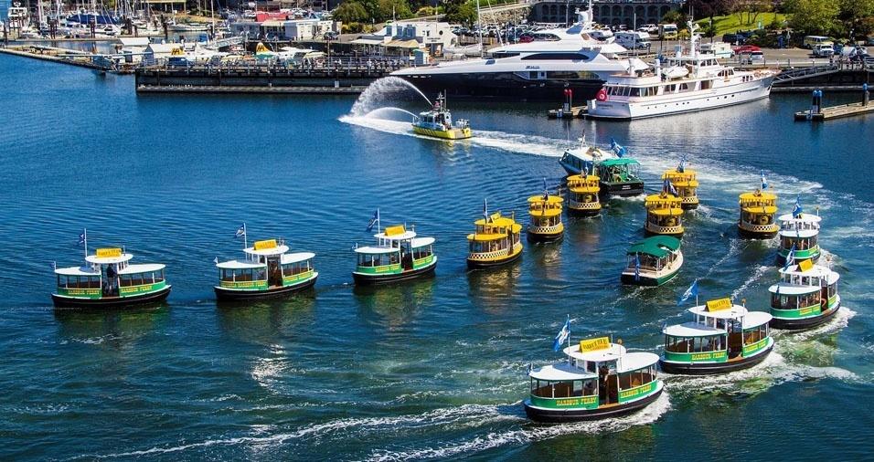 20. Em Victória, no Canadá, também tem táxi na água
