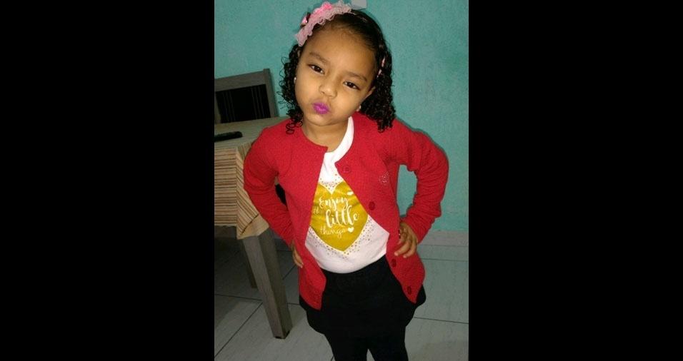 Sidney enviou foto da filha Sarah Helloysa, de São Paulo (SP)