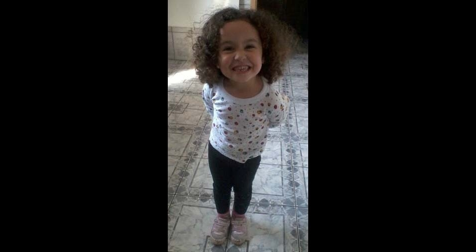 Moises, de São Paulo (SP), enviou foto da filha Giovanna, de nove anos