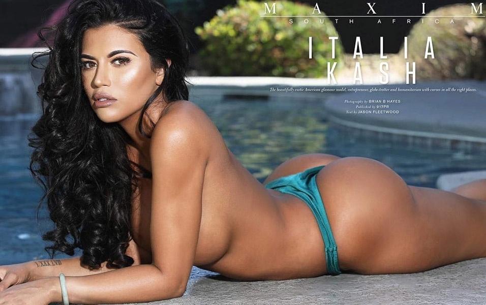 Italia Kash já posou para várias revistas masculinas, como Playboy e Maxim