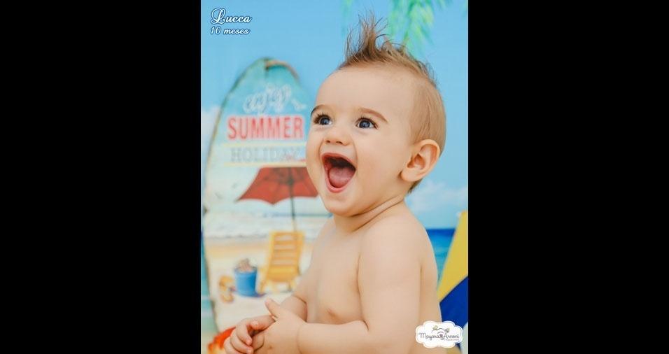 Bruna de Almeida Garcia Marcatto, de Porto Ferreira (SP), enviou foto do filho Lucca