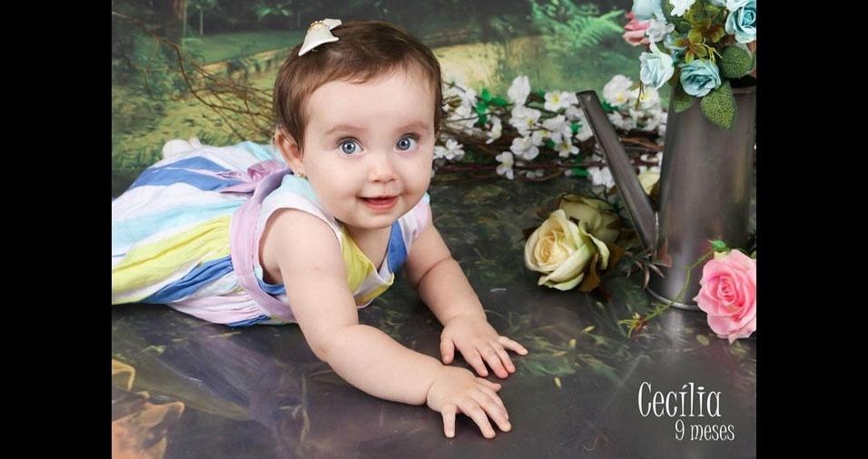 Cecília é a pequena filha de Rafaela e André