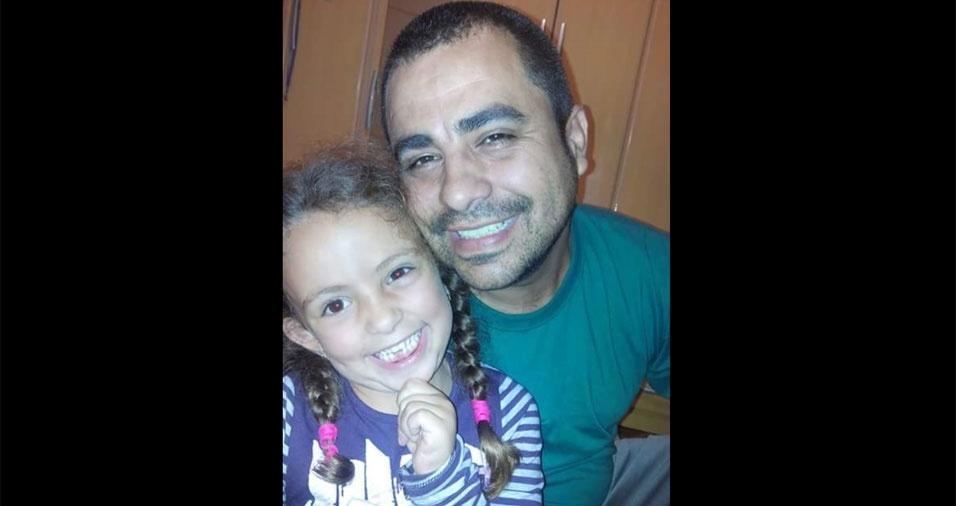 Natalia e o papai Fábio, de Tatuí (SP)