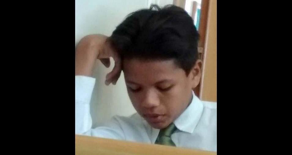 Elaine, de Belém (PA), enviou foto do filho Hefraim Christian, 12 anos
