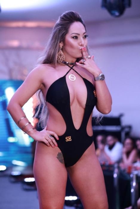 5.nov.2017 - Slga Shitara, Musa de Sergipe, foi eleita Musa Simpatia pelas concorrentes