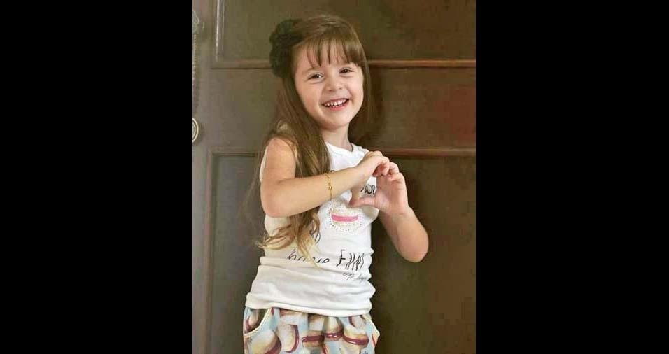 Ingrid enviou a foto da filha Sofia, de Alagoa Grande (PB)